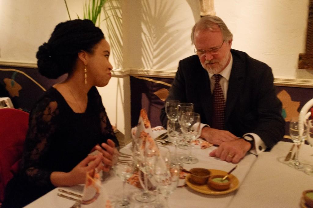 PfAL4 scholar Fiona Mungai shares a conversation with Professor Craig Calhoun, LSE Director, over dinner celebrating the launch of PfAL@LSE