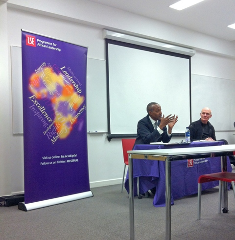 H.E. Macharia Kamau and Professor Robert Wade in the PfAL@LSE January session