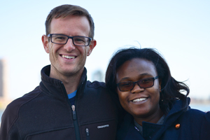 PfAL 2 and PfAL 3 alumna Navalayo Sarah Osembo Ombati (right) with Enda co-founder Weldon Kennedy